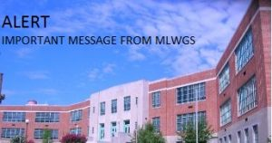 Alert Message with image of school