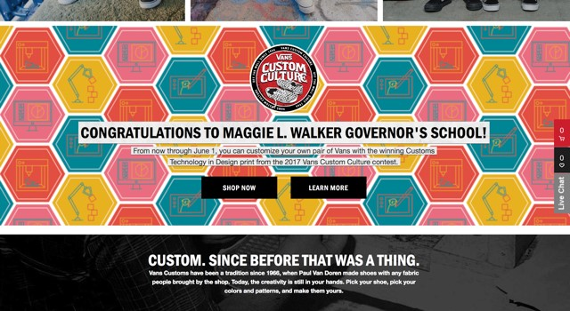 MLWGS wins Technology in Design in the VANS Custom Culture