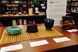 Student Art displayed in Library