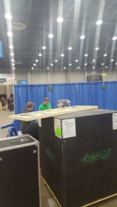 Students setting up pit area for competition