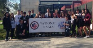 Student team at national competition