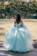 Girl in a prom dress