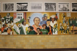Maggie Walker Mural on school wall