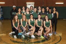 Girls tennis team members 2018