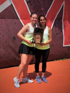2018 Tennis Champions - 2 girls with trophy