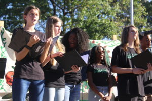 Student singers at Fall Festival