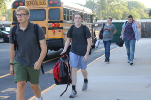 Students arrive on first day of school
