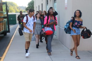 Students arrive for first day of school