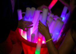 Light sticks in a bucket