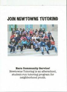 Newtowne tutoring poster