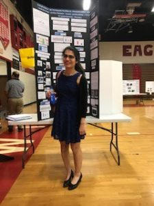 Student winner at Rich STEM Fair