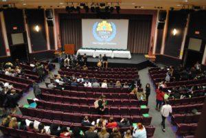 Students in the auditorium