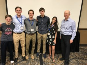 Winning students at SABR Competition