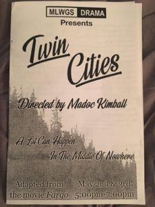 Playbill for Twin Cities