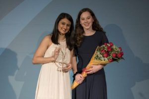 2 students with awards