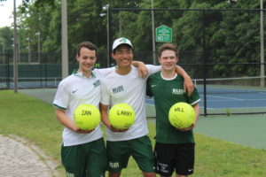 3 male tennis players