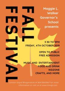 Fall Festival Brochure