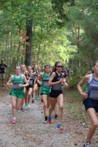 2019 Girls XC team running