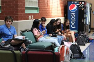 Students resting