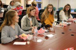 Goochland students at table